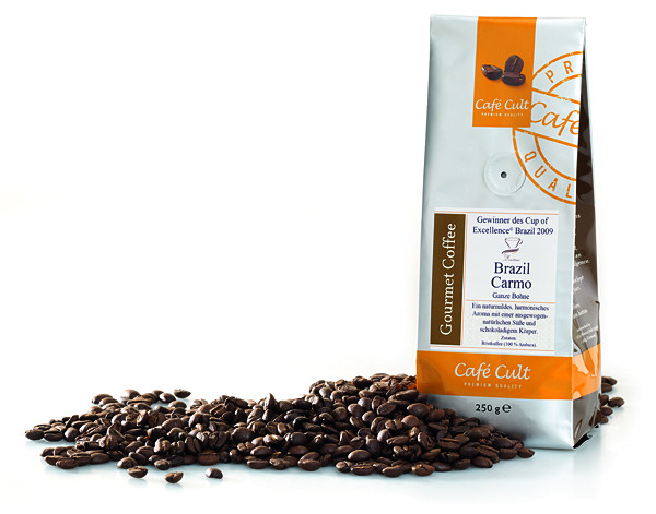 """Cafe Cult """"Cup of Excellence"""" Brazil Carmo 250g"""